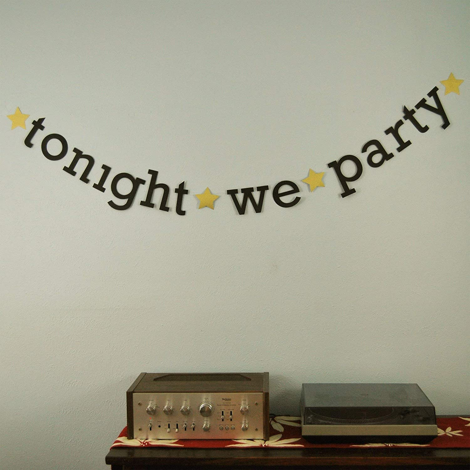 Amazon Com Tonight We Party New Year S Eve Banner Handmade