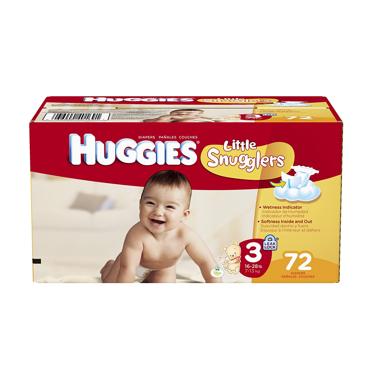 Amazon.com: Huggies Little Snugglers Diapers, Step 3, Big, 72 Count: Health & Personal Care