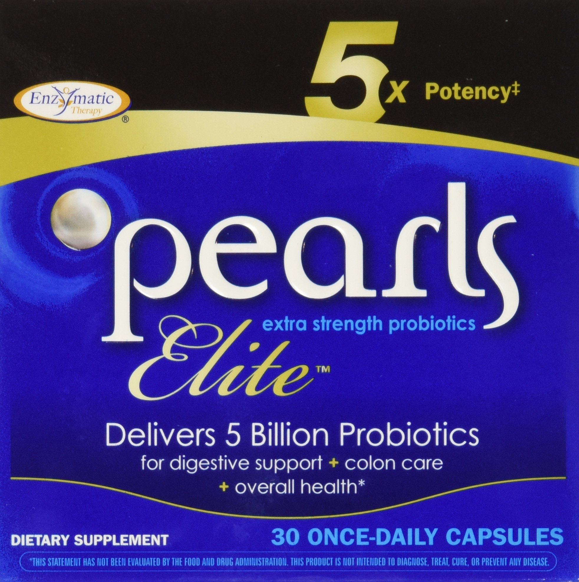 Pearls Elite High Potency Probiotics, 30 Capsules, From Enzymatic Therapy ( Multi-Pack)