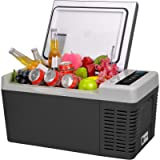 F40C4TMP Portable Refrigerator Freezer 20 Quart 12V Car Freezer Refrigerator 18L (-7.6℉~50℉) with 12/24V DC Portable Car…