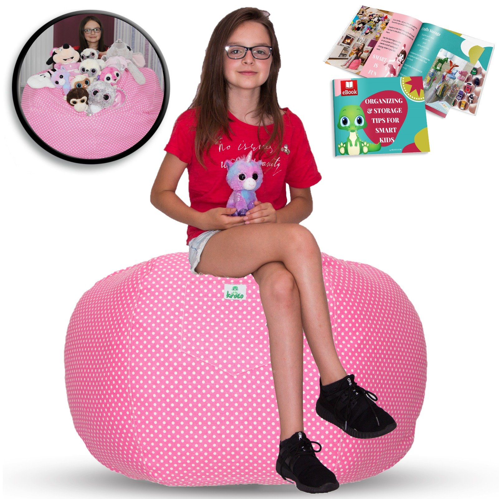 Cool Details About Kroco Extra Large Stuffed Animal Storage Bean Bag Chair For Kids Stuff N Squirreltailoven Fun Painted Chair Ideas Images Squirreltailovenorg