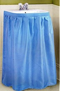 New Fabric Sink Skirt   Blue
