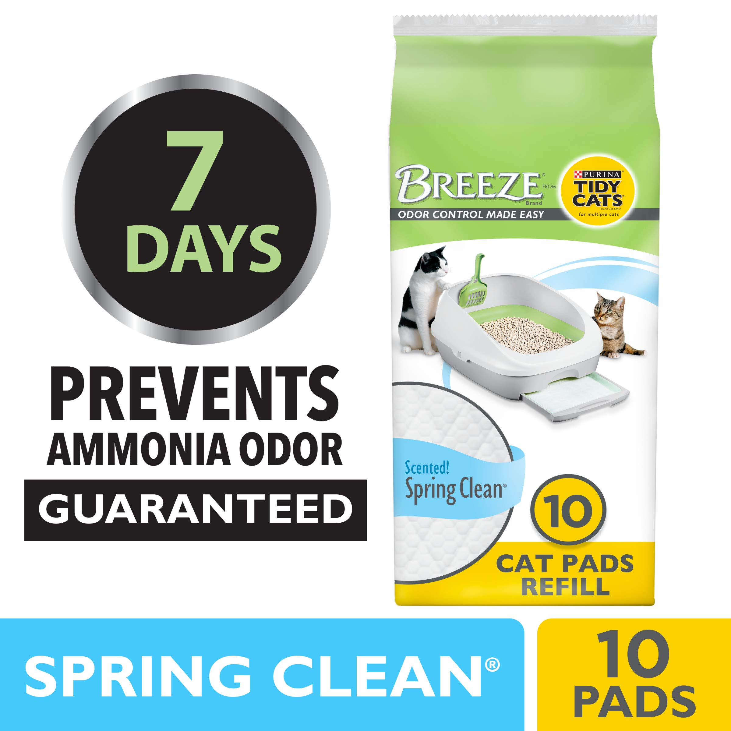 Purina Tidy Cats Cat Pads, BREEZE Spring Clean Fragranced Refill Pack - (6) 10 ct. Pouches by Purina Tidy Cats