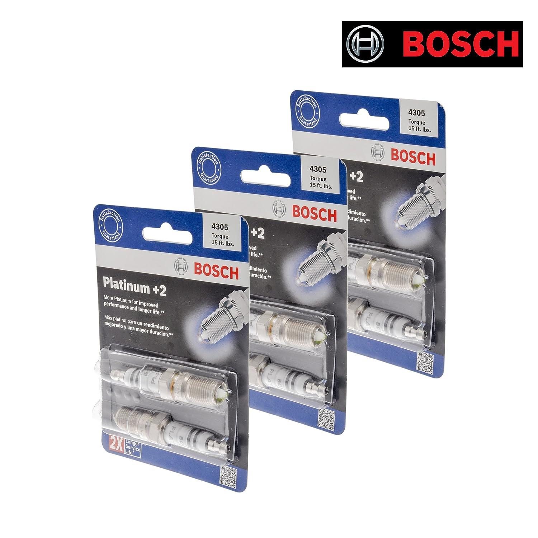 Nuevo Bosch 4305 Platinum Plus + 2 Bujía (Set de 6): Amazon.es: Coche y moto