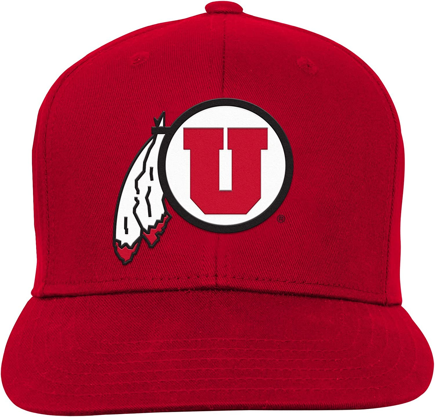 Light Blue Youth One Size NCAA Utah Utes Youth Outerstuff Team Flat Brim Snapback Hat