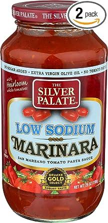 Palate de plata, salsa de Marinara de baja sal, 283 ml ...