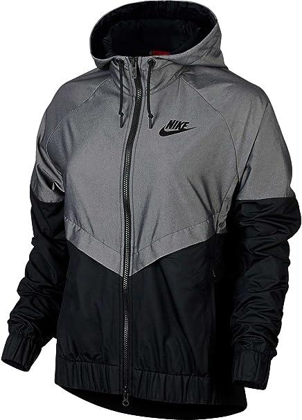 Nike - Abrigo Impermeable - para Mujer Negro X-Large: Amazon.es: Ropa y accesorios