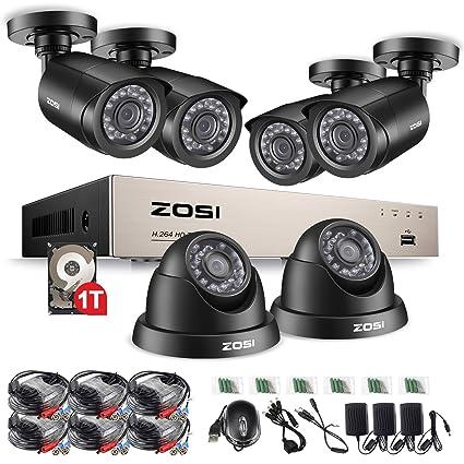 ZOSI 4 ch DVR 720 P HD juego de cámara de vigilancia de visión nocturna cámara