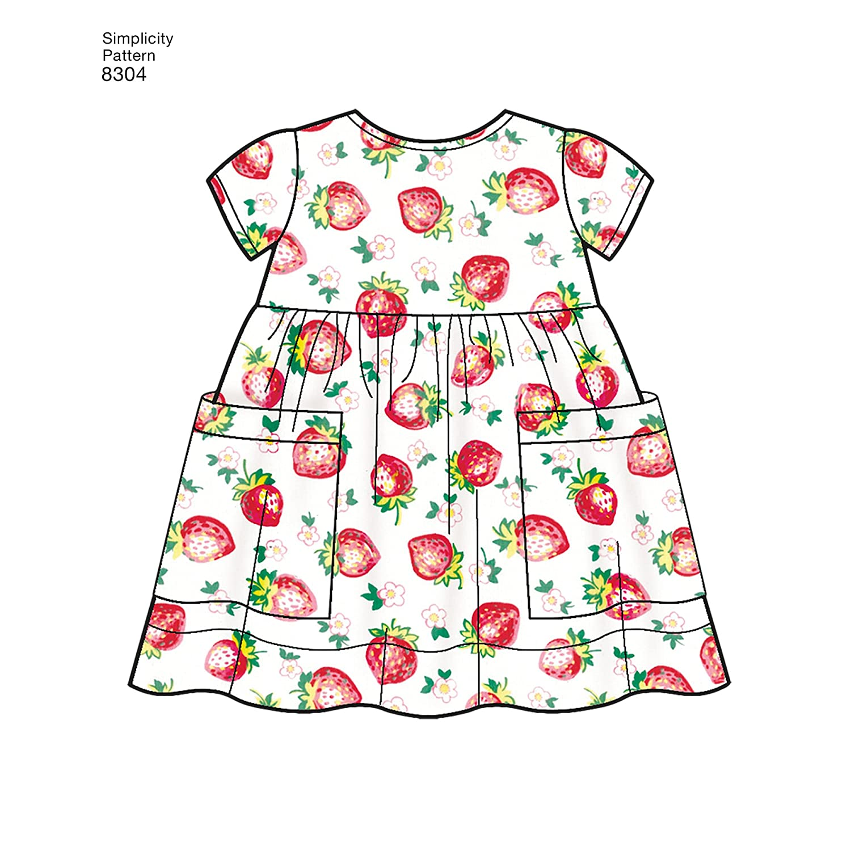 Simplicity Babies Leggings, Top, Dress, Bibs, Headband Art and Craft ...