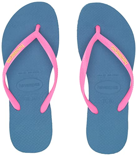 1cd9af23e Havaianas Women s Slim Logo Pop Up Multicolored Flip-Flop Sandals