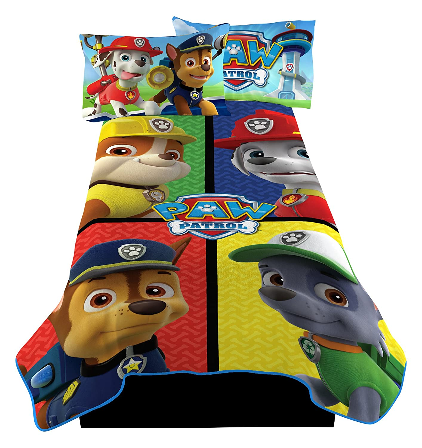 Nickelodeon PAW Patrol Puppy Rescue Microraschel Blanket Franco Manufacturing A4415C