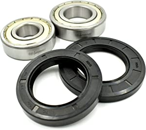 HD Switch Front Load Washer Tub Replaces Whirlpool, Kitchenaid (2) Bearing & (2) Seal Kit W10772619