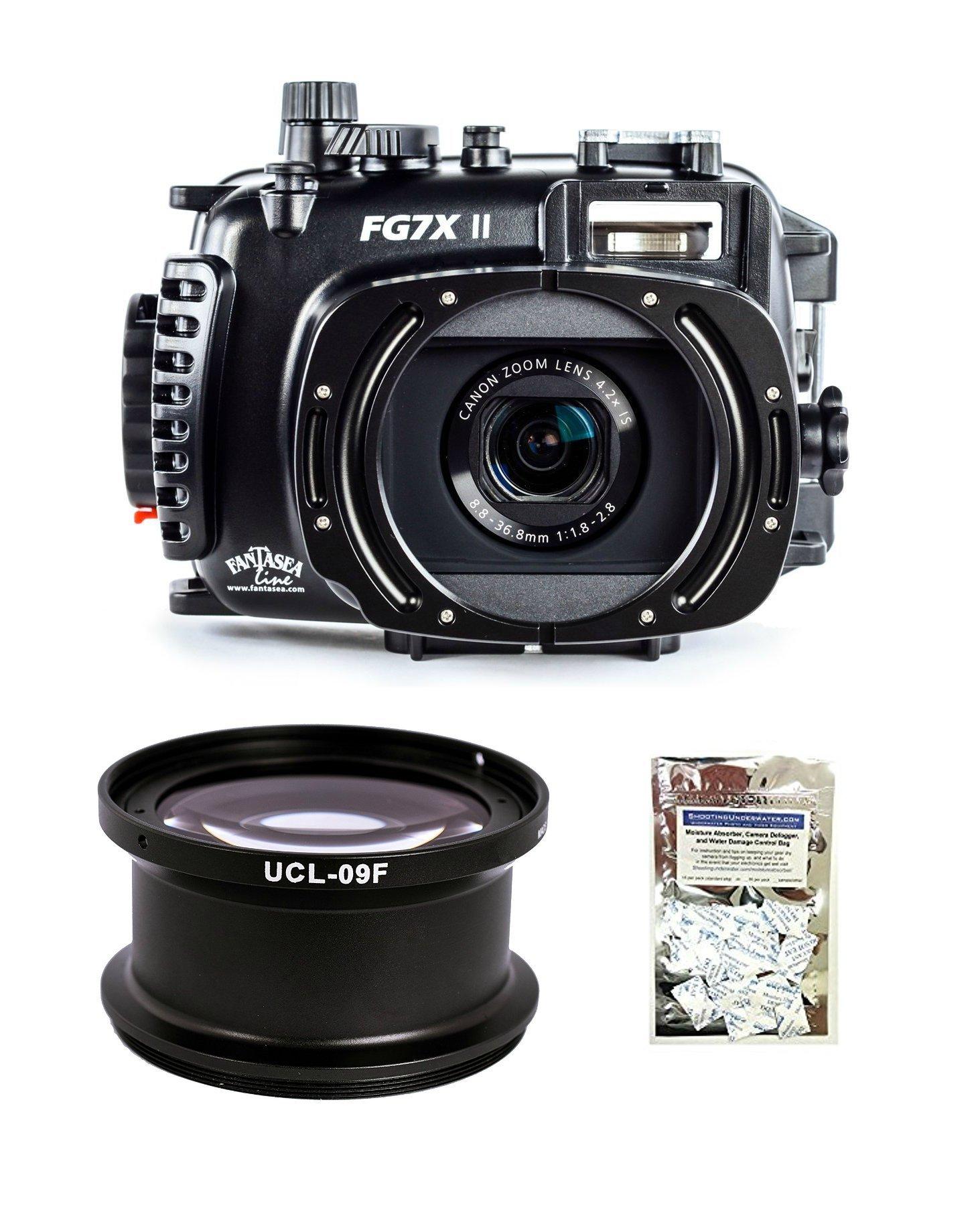 Fantasea FG7X II Housing for Canon Canon G7 X Mark II w/UCL-09F +12.5 Super Macro Wet Lens & Moisture Absorbers
