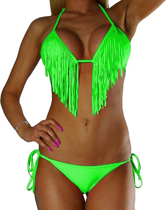 Moderner Fransen-Bikini NEU