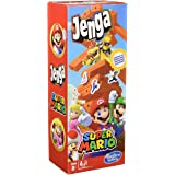 Hasbro Gaming Juego de Jenga: Edición Super Mario - Juego de apilar Bloques en Torre - para Fans de Super Mario - Edad Recome