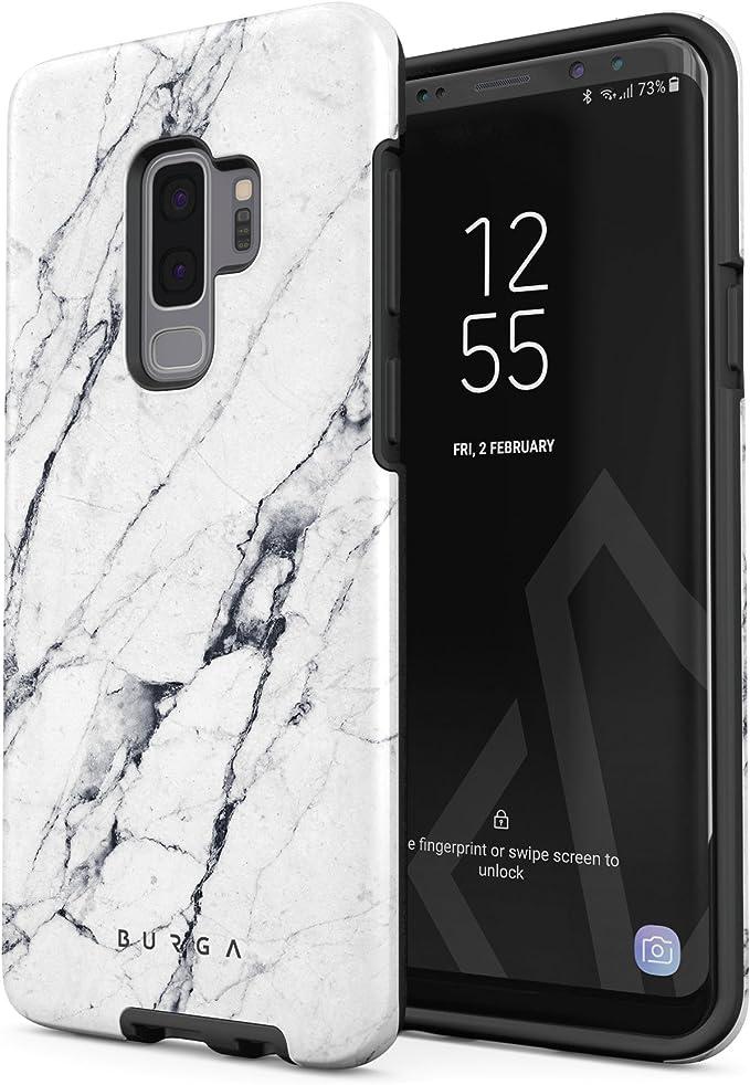 BURGA - Carcasa rígida para Samsung Galaxy S9 Plus, Color Negro y ...