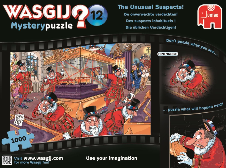 Amazon.com: Jumbo Wasgij Mystery 12 the Unusual Suspects Jigsaw ...
