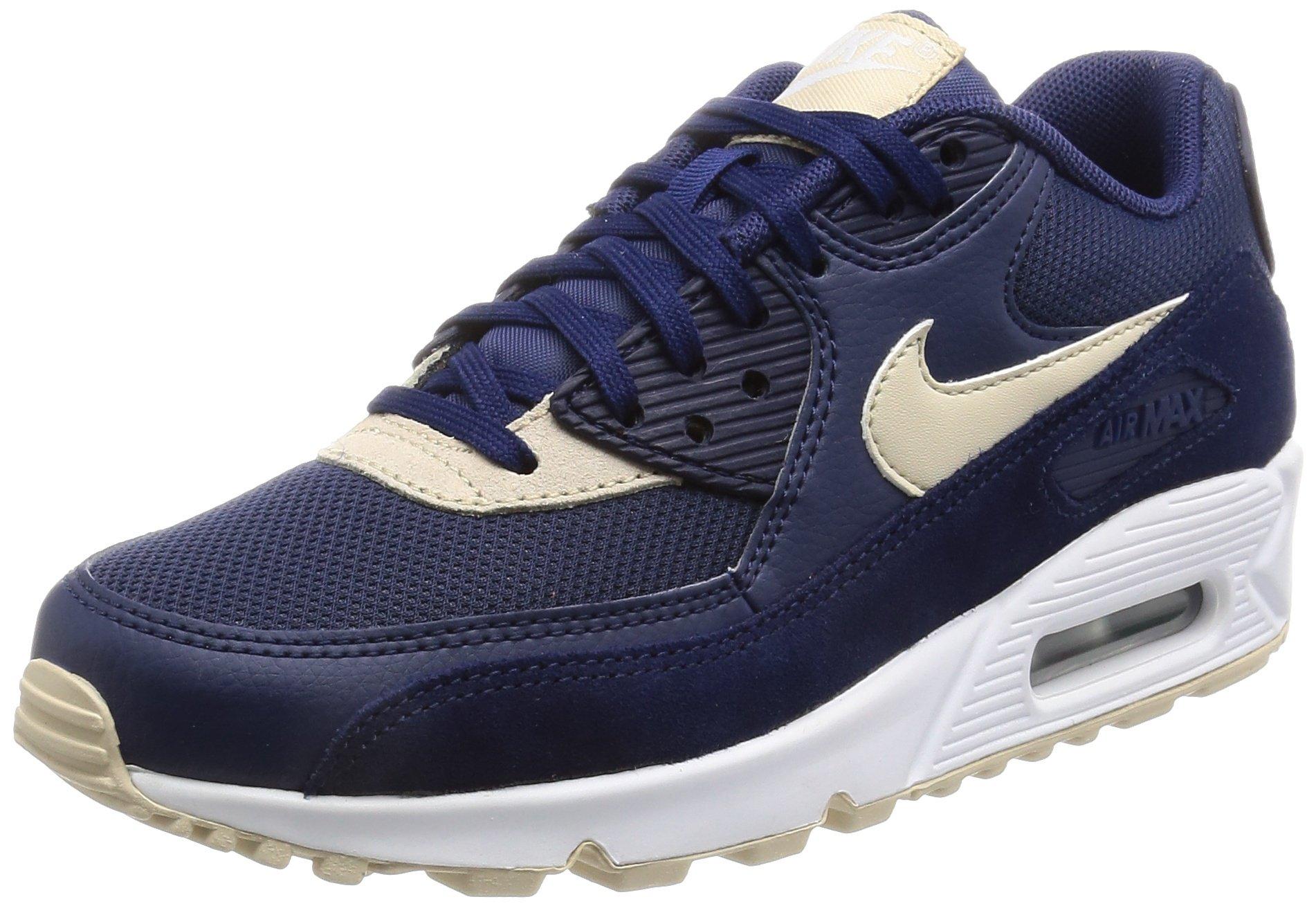 Mens Oatmeal & Sail & Gum Rubber Nike Air Max 90 Premium iD Shoe