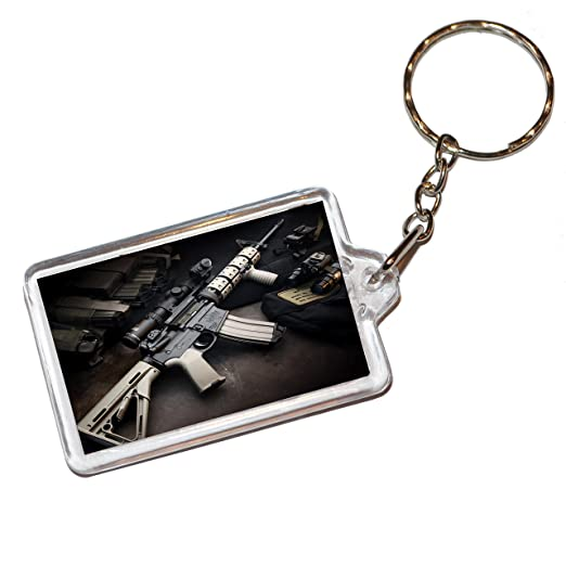 Amazon.com : Machine Gun Keyring/Keychain : Office Products