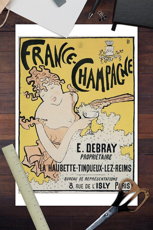 Amazoncom France Champagne Vintage Poster Artist Bonnard