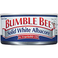 BUMBLE BEE Solid White Albacore Tuna In Vegetable Oil, 12 Ounce Can (Pack of 12), High Protein Food, Keto Food and…