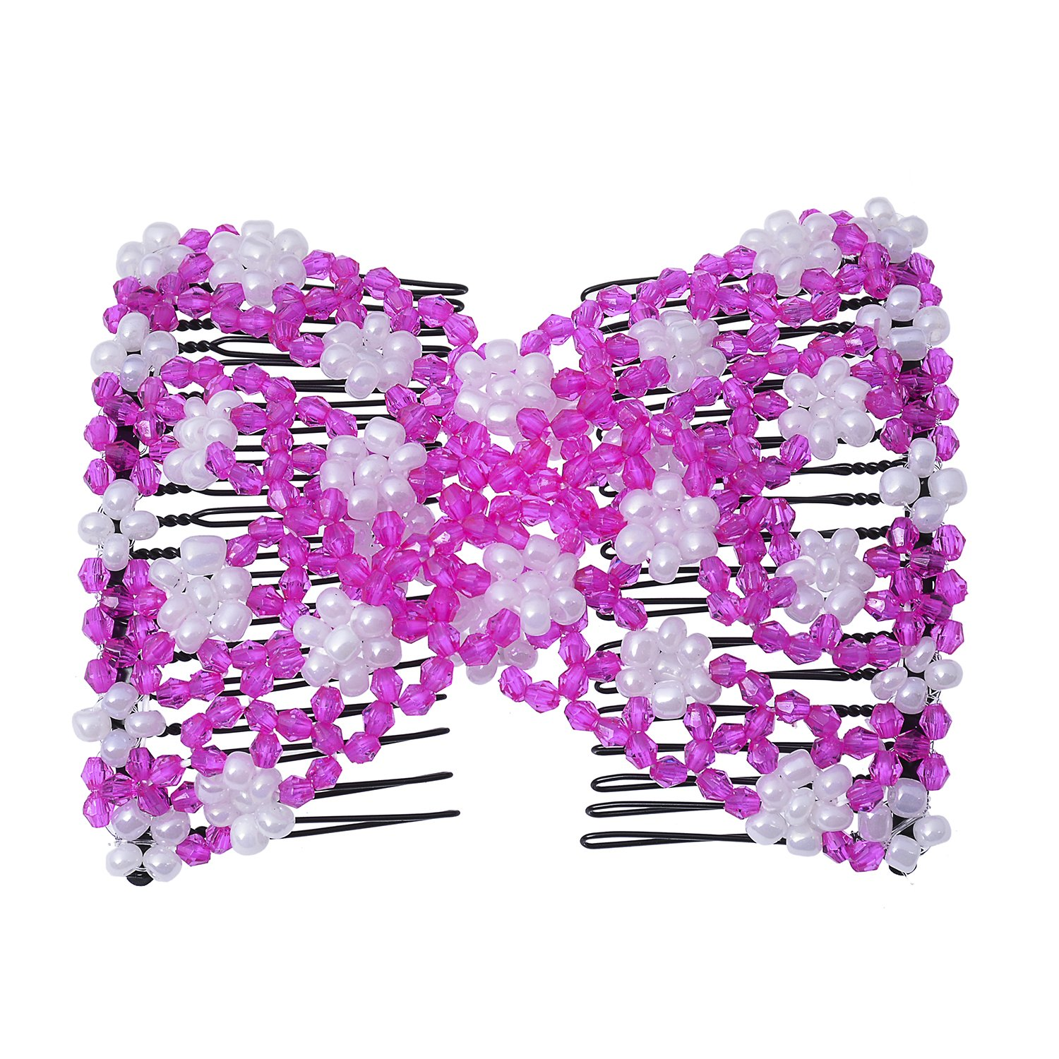 Casualfashion Magic Hair Comb, Perfect for Easy Ponytails, UpDos and Twists, Hair Accessory with Plastic Double Combs Clips wf-4501-5001