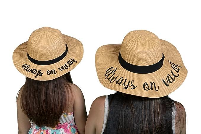Amazon.com: Funky Junque juego de sombrero de sol bordado ...