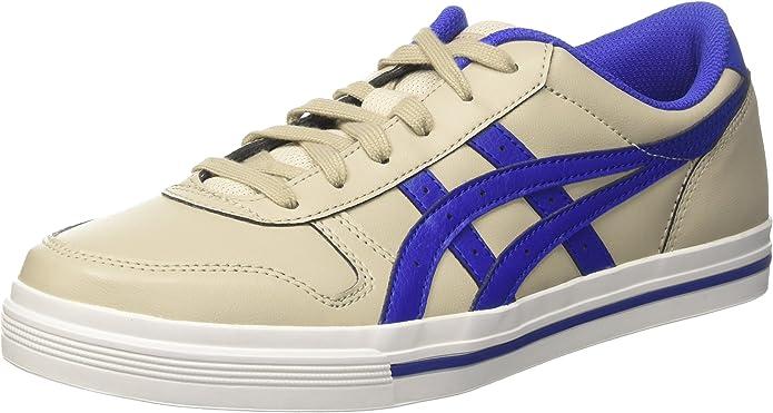 ASICS Aaron Sneakers Damen Herren Unisex Federgrau/Blau Größe 36-49