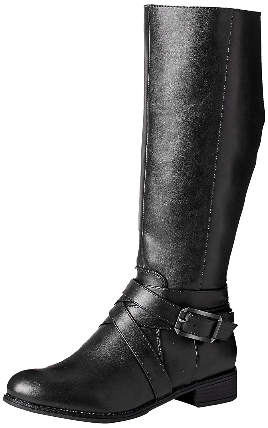 LifeStride Women's Subtle Equestrian Boot B01LX9LRMK 8.5 W US|Black
