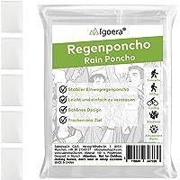 Igoera Regenponcho transparent, 5er-Pack Regencape mit Kapuze für Festival, Konzert, Wandern, Radfahren, Camping, Outdoor, Einweg Poncho gegen Regen