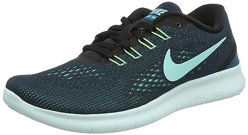 online retailer c95d9 a4604 Nike Free Run, Scarpe Running Donna, Nero (Black Hyper Turquoise Green Abyss