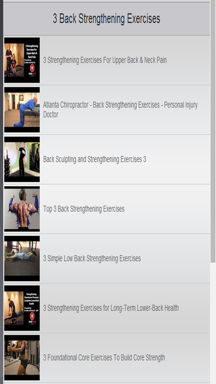 amazon com back strengthening exercises appstore for android