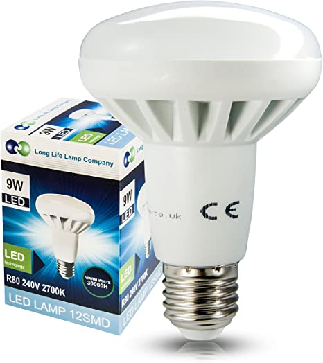 R63 LED 9W E27 Replacment for Reflector R63 Light Bulb Cool white 720 Lumens