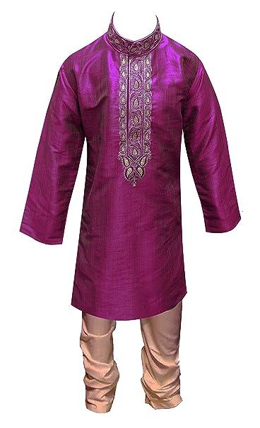 Desi Sarees Chicos Pijama Kurta de Seda India Sherwani Bollywood Fiesta Salwar  Kameez 859  Amazon.es  Ropa y accesorios 07540db3c5d