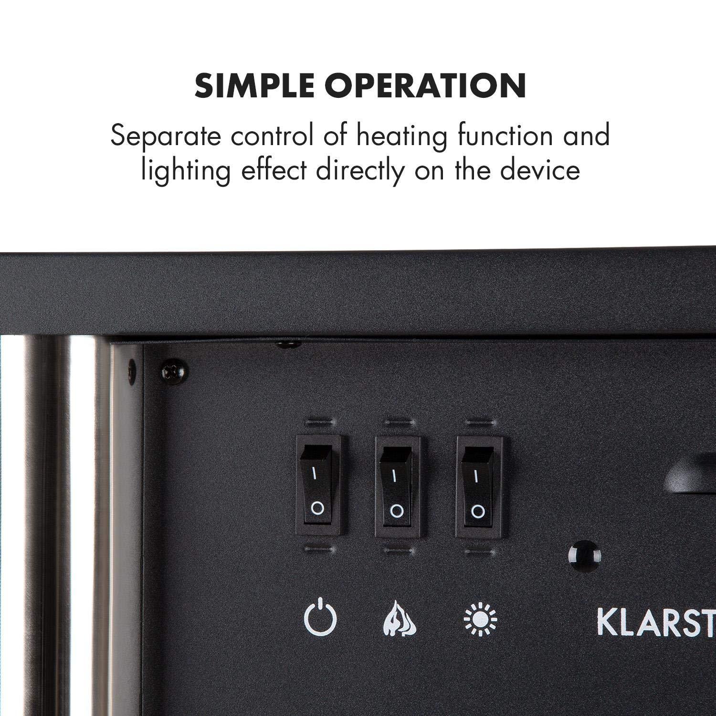 Klarstein Copenhagen - Chimenea eléctrica, Calefacción con ...
