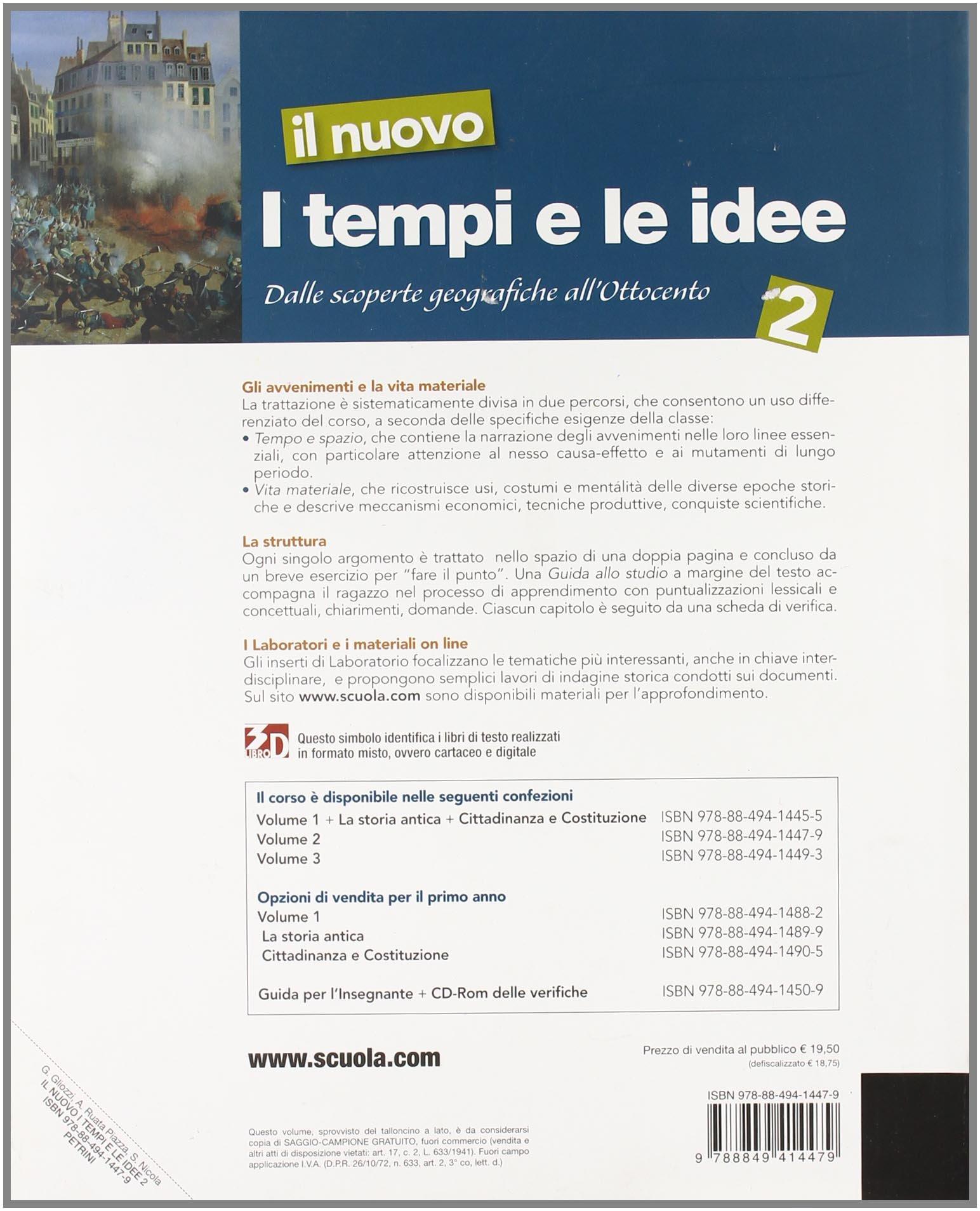 I Tempi E Le Idee 3.Amazon It Il Nuovo I Tempi E Le Idee Per La Scuola Media Con Espansione Online Nuovo Tempi Idee 2 Ld Ruata Piazza Libri