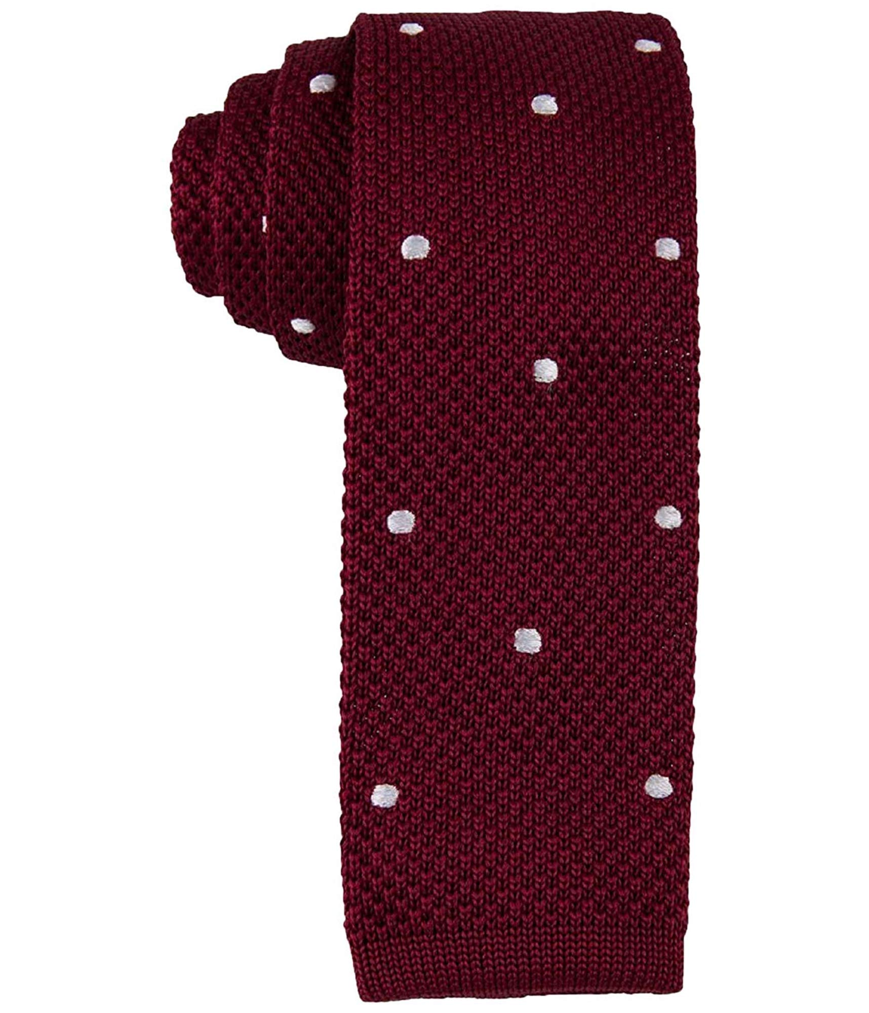 Tommy Hilfiger Mens Silk Polka Dot Neck Tie