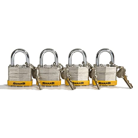 4868f835d171 Guard Security Strong Layered Steel Body Padlock Set of 4
