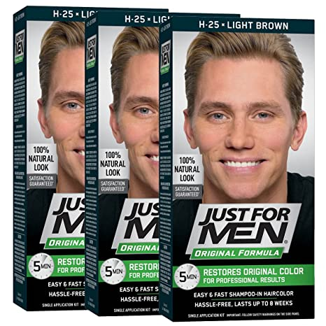 Buy Just For Men Shampoo In Hair Color Light Brown 25 1 Application