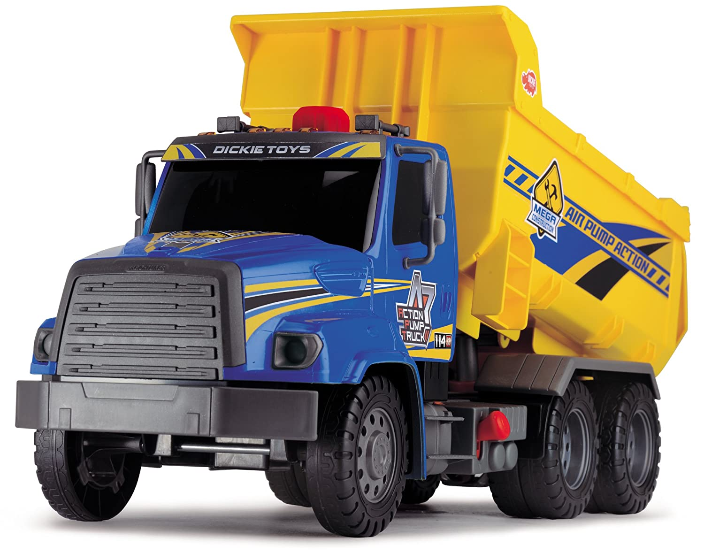 amazon com dickie toys air pump action dump truck 21