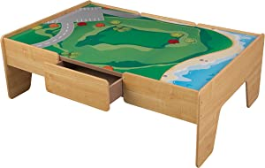 KidKraft Wooden Play Table Train Table