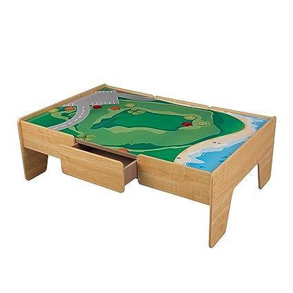 Amazon.com: KidKraft Wooden Play Table Train Table: Toys & Games