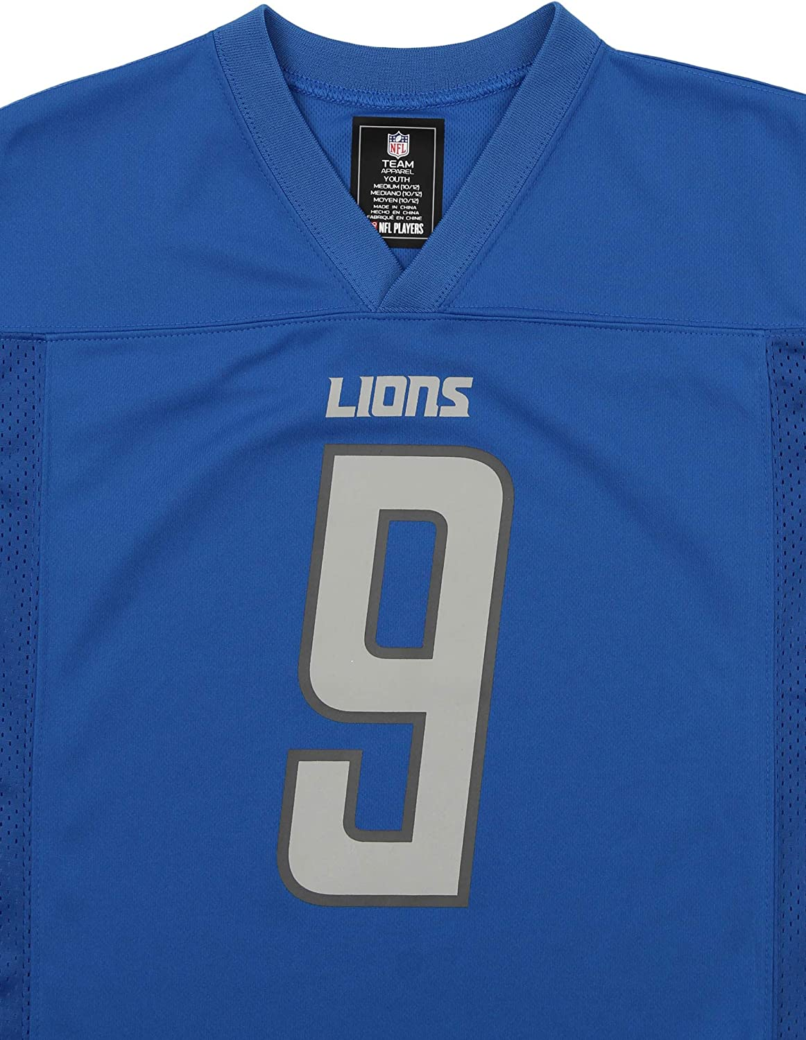 Outerstuff Matthew Stafford Detroit Lions #9 Blue Youth Home Player Jersey