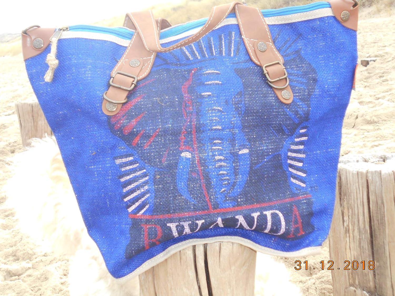 HOGACA coole Damen Handtasche Mod.4 Elefant Elefant Elefant aus recycelten Kaffeesack Kaffeebohnensack-Leinen City Shopper in 9 tollen Farben B07MGYR23Z Henkeltaschen Billig ideal 6e6ffd