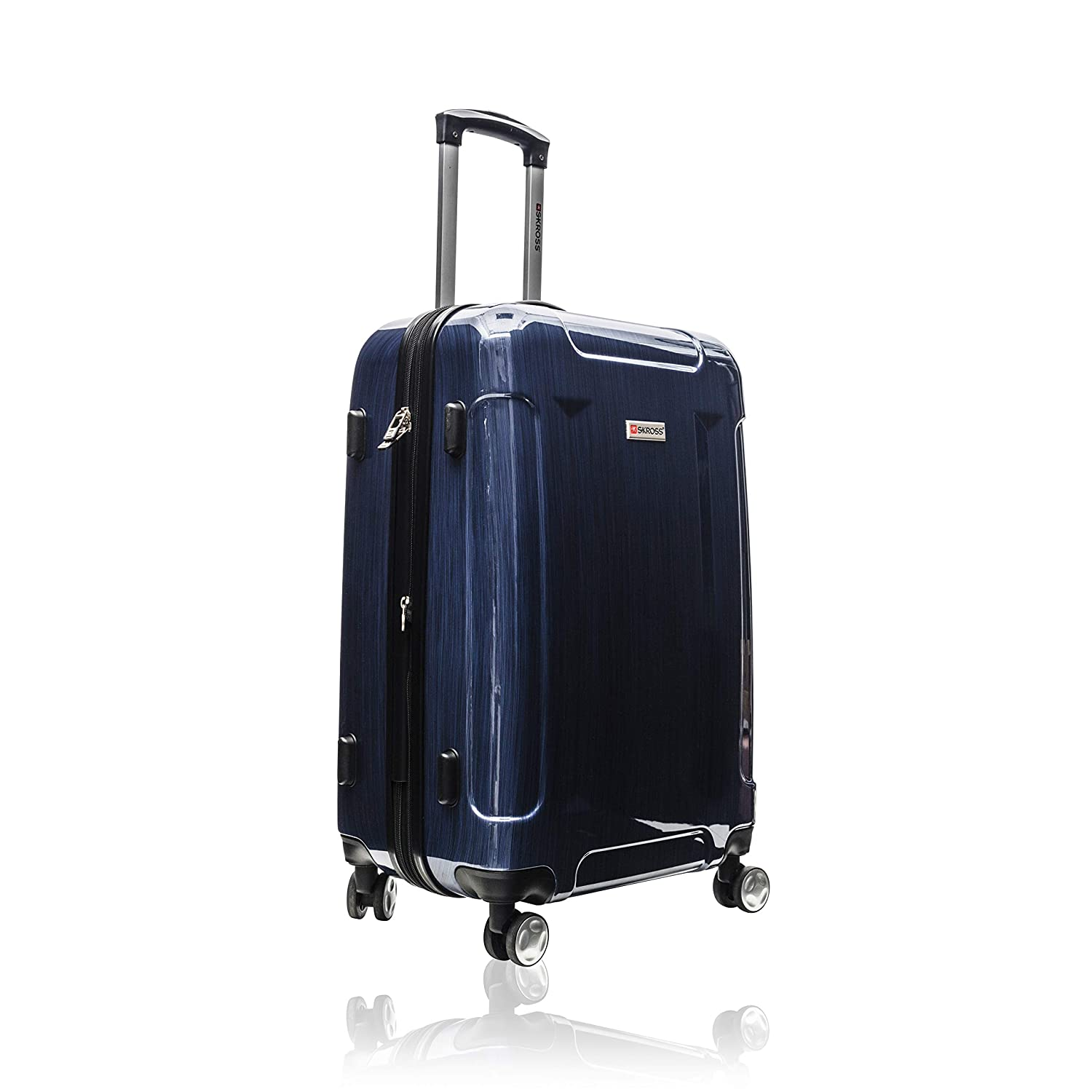 24 and 28 Luggage Set Charcoal SKROSS 3-Piece Spinner Hardside 20 Carry On