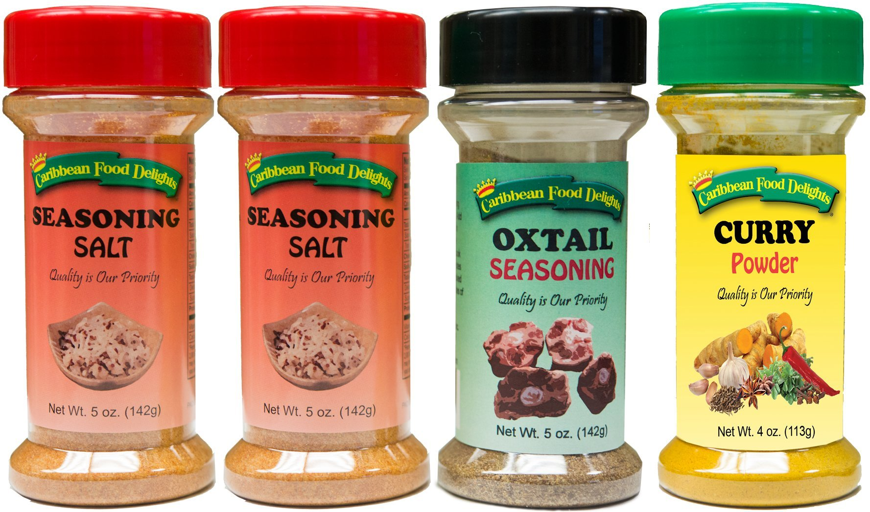 Seasoning Salt, Oxtail Seasoning, Curry Powder - Spices Variety 4 Pack