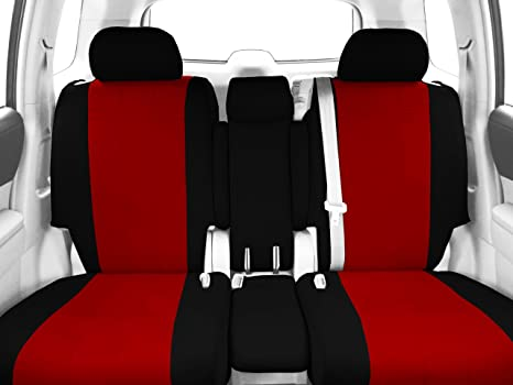 Astonishing Caltrend Front Row 40 20 40 Split Bench Custom Fit Seat Cover For Select Ford F 150 Models Neosupreme Red Insert And Black Trim Ibusinesslaw Wood Chair Design Ideas Ibusinesslaworg