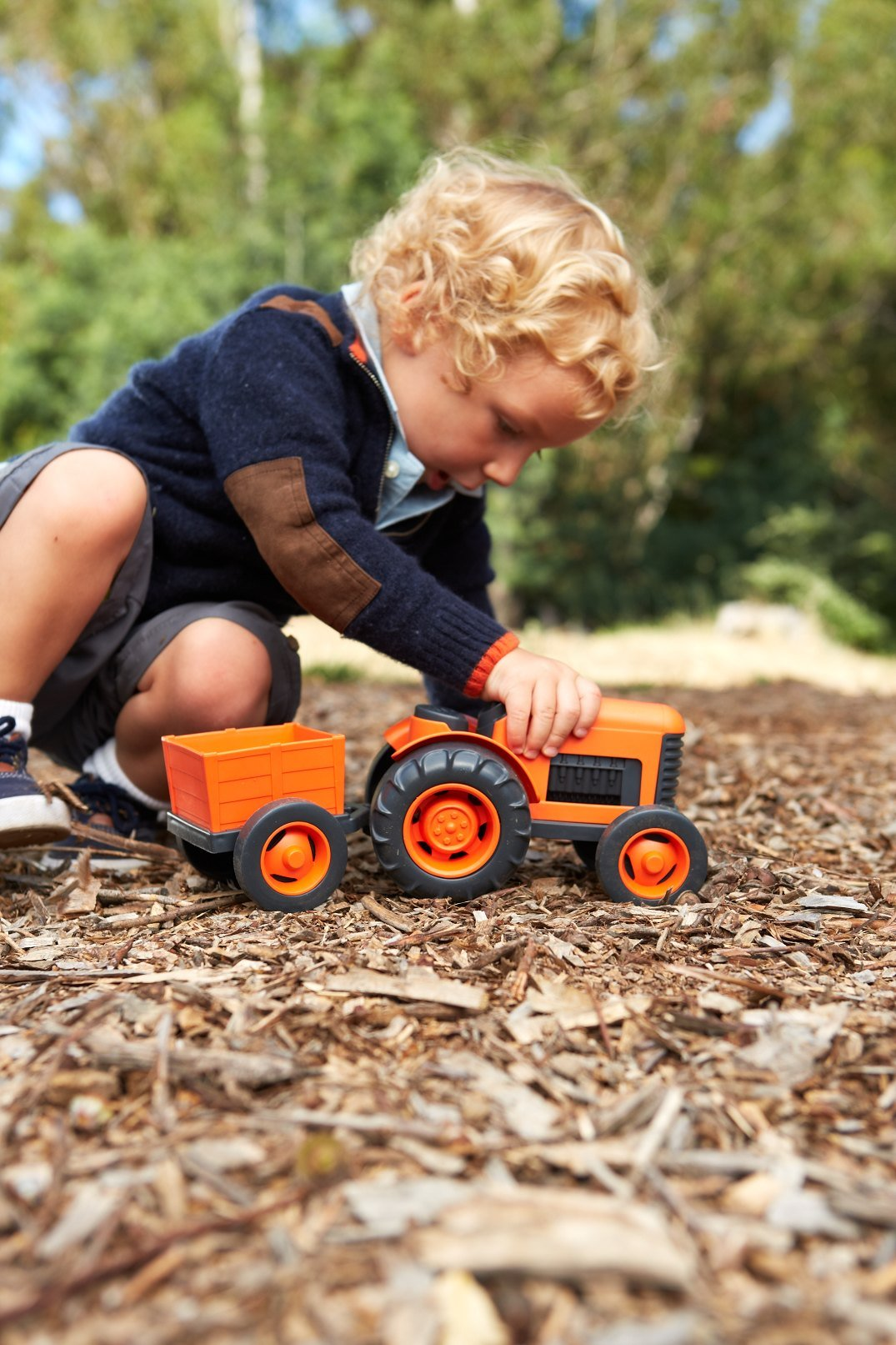 Green Toys Tractor Vehicle, Orange by Green Toys (Image #4)