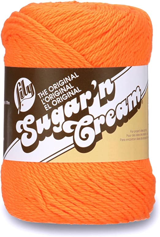 Lily Sugar N Cream - Madeja de algodón, Hot Orange, 2.5 oz: Amazon.es: Hogar