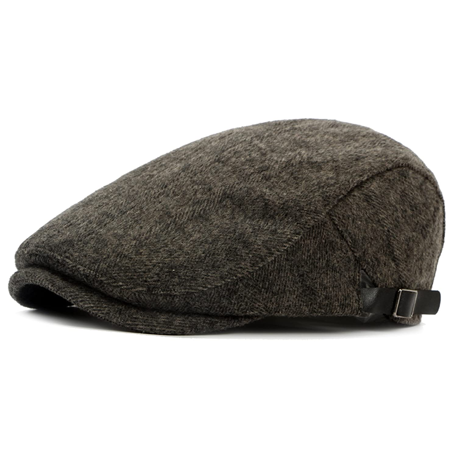 f062e8f80c7e0 Color City Mens Warm Wool Tweed newsboy Gatsby IVY Cap Golf Cabbie Driving  Winter Hat at Amazon Men s Clothing store